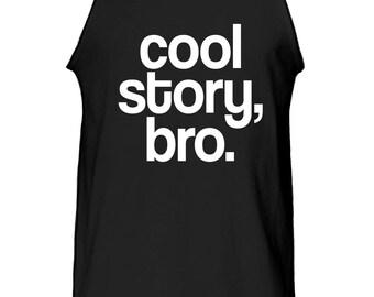 Slogan 'Cool Story Bro' Tank Top