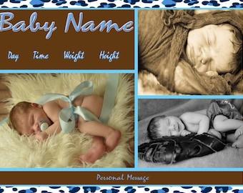 Birth Announcement - Digital File