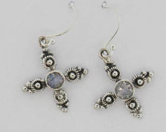 Elegant and Genuine Sterling Silver 92.5 Earrings with Moonstone
