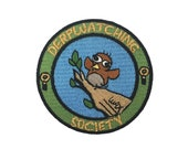 Funny Bird Derpwatching Society - Original WAX Comic Strip Iron-On Embroidered Patch