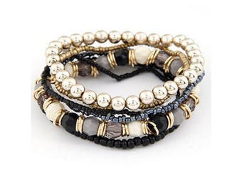 Women's Gold Platted Gemstone Bracelet