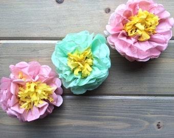Single tissue paper flower  - Peony
