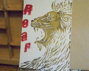 Letterpress print card