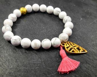 women ethnic marble bracelet