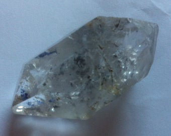 Double terminated enhydro quartz crystal