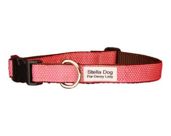 Pink Micro Dot Collar *FREE SHIPPING*