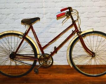1950s ladies Robin Hood vintage city bicycle retro interior pub antique industrial road
