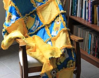 Childs' Minion Fleece Rag Quilt