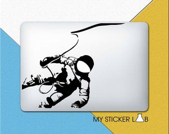 Astronaut MacBook Sticker Astronaut MacBook Decal Space Explorer Decal Apple Decal Astronaut Helmet Sticker Galaxy Outer Space Vinyl 324