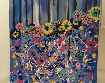Semi Abstract Painting, Flower painting