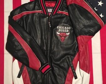 Vintage Chicago Bulls Wilson Leather Jacket