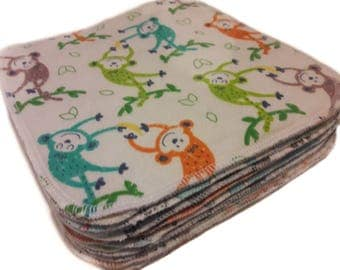 Lunchbox Napkins - Back to School - Kids Napkins - Reusable Napkins - Kids Wipes - Set of 10 - 2 ply - Choose your own prints - Mix & Match