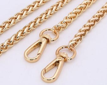 8mm Gold silver gunmetal Chain Strap purse strap handles bag hadnbag Purse Replacement Chains Purse Finished Chain straps High Quality
