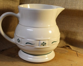 32 Oz Pitcher in Woven Traditions Heritage Green by Longaberger