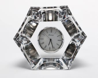 Baccarat crystal flat table dest clock