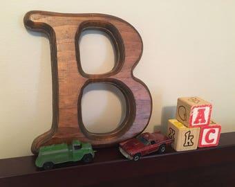 "Vintage Wooden ""B"""