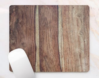 Wooden Mousepad Wood Office Decor Forest Tree Mousepad Rectangular Pad Pretty Wooden Mat Pad For Mouse Mice Pad Light Brown 6