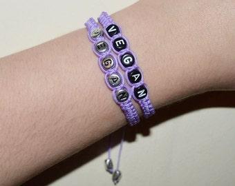 Lilac Vegan Bracelet