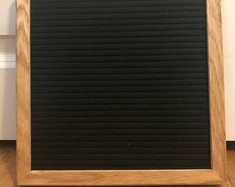 "10""x10"" Real Wood Frame Felt Letterboard with 290 Characters"