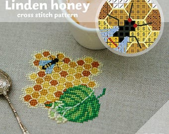 "Cross stitch pattern ""Linden honey"" (Instant Download)"