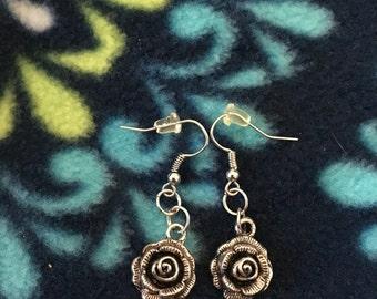 Hundred Leaved Rose Earrings