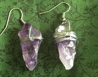 Amethyst Wire Wrapped Earrings