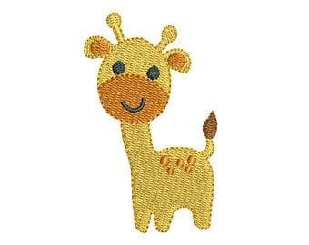 Mini Giraffe Machine Embroidery Design, Baby Giraffe Fill Stitch Machine Embroidery, 2x2, 3x3 inches, Instant Download, No: FA560-4