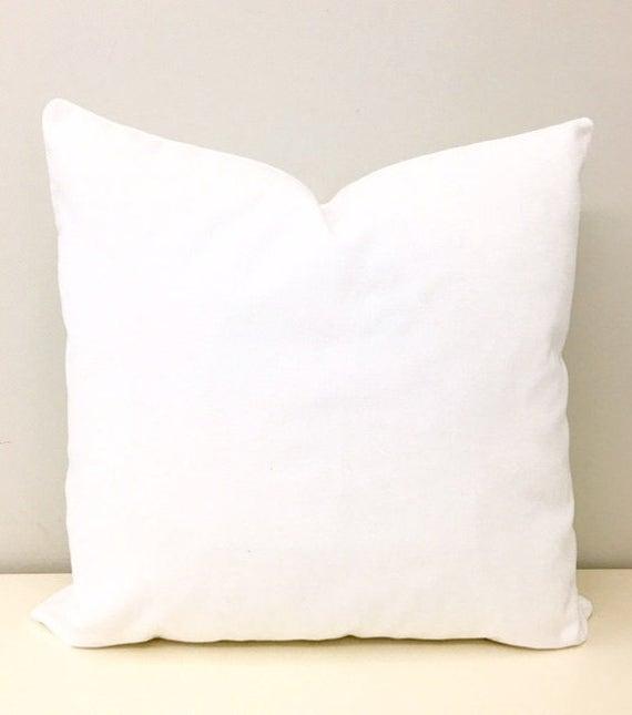 Luxury White Cotton Velvet Pillow Cover White Pillow Velvet