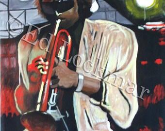 Original Acrylic Painting of Jazz Legend Miles Davis