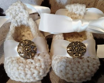 One of a kind Glamorous pretty, dress up baby shoes