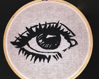 black eye embroidery