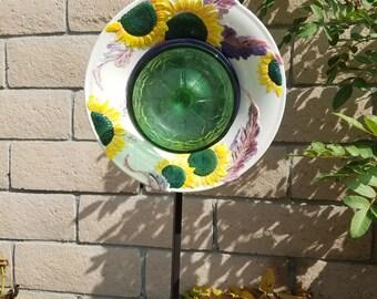 Decorative glass garden art