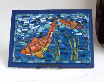 Fish Mosaic with Glass Tiles