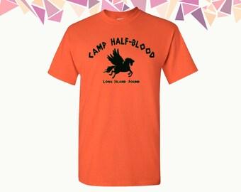Camp Half Blood T shirt Percy Jackson Men's shirt Shirts Puf Life T-shirts T Shirt Tshirts Mens T Shirts Mens Shirts Mens Tees Gift For Him
