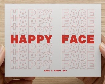 Happy Face Notecard with Envelope