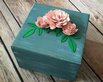 Flower Box, Tooth Fairy, Wedding Ring, Jewelry Box, Cute Box with Flowers