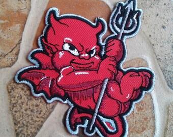 Red devil punk rock patch.