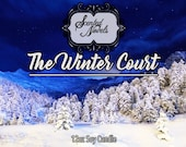 The WINTER COURT- Inspired by A Court of Mist And Fury - CHUNKY 12 oz Hand Poured Bookish Soy Candle