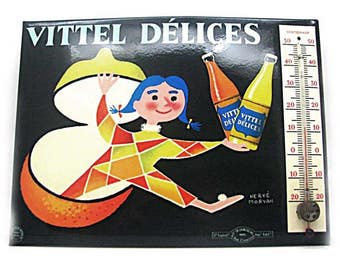 Former advertising thermometer Vittel delights