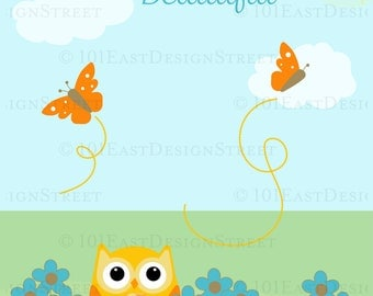 Adorable Owl - Butterfly Poster