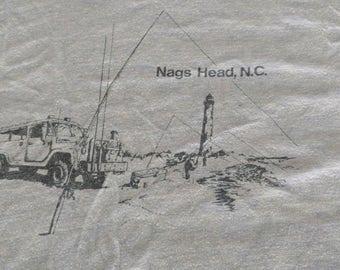 70s vintage Nags Head NC ringer t shirt collegiate Pacific