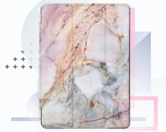 Ipad Smart Cover iPad pro 12.9 smart cover iPad air smart cover iPad pro smart cover iPad case cover blue marble pink marble ipad CMsc07