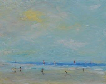 landscape, acrylic painting