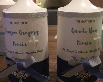 Personalised Baptism candles