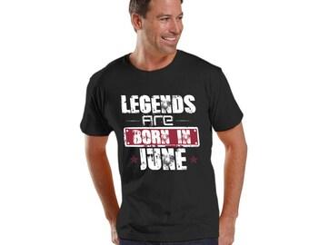 Legends are born in BIRTHDAY Men's Fine Jersey Tee