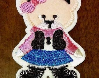 CowGirl Rodeo Country Western Cowboy Teddy Bear Cutest Iron On Patch Or Sew On Patch Appliqué