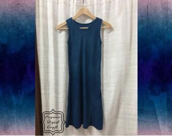 Organic Mor Hom Indigo Dyed Cotton Dress