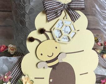 Bumble bee, beehive Invitation