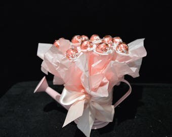 Pink Lindt Watering Can Bouquet