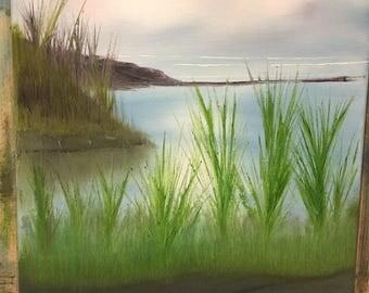 Original oil painting - Water's Edge
